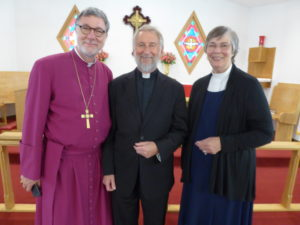 Bishop Hanley, Father Bob, Deacon Peggy